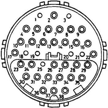 Тип разъема №6 - 38-ми контактный круглый разъем