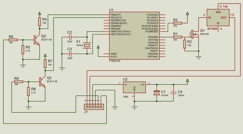Исправленная схема блока автоматического включения фар дальнего света в полнакала.
