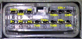 Разъём магнитолы PIONEER