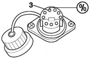 9-ти контактный круглый разъем