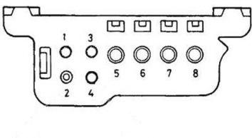 Тип разъема №2 - 8-ми контактный прямоугольный разъем