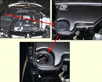Примеры расположения разъема на отдельных моделях автомобилей Mercedes