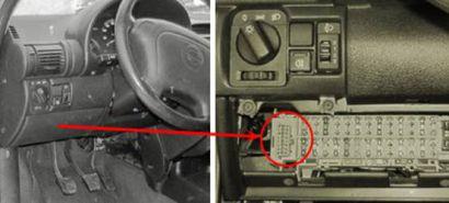 Примеры расположения разъема на отдельных моделях автомобилей Opel