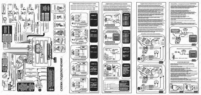 Схема подключения автосигнализации шерхан 5