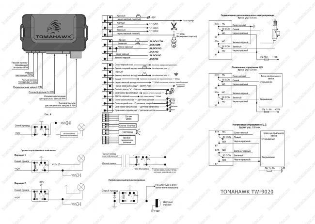 томагавк x5 инструкция по установке